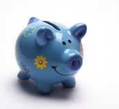 Colored children`s piggy Bank on white background. /pig piggy Bank for kids/  objects, ceramics, children Royalty Free Stock Image