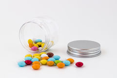 Colored chocolate smarties Royalty Free Stock Photo