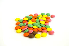 Colored chocolate tiny candies Stock Photo