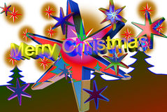 Colored Christmas. So we again come Christmas peace. Image, graphics Royalty Free Stock Photography