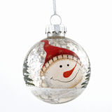 Colored christmas ball toy on white background Royalty Free Stock Photos