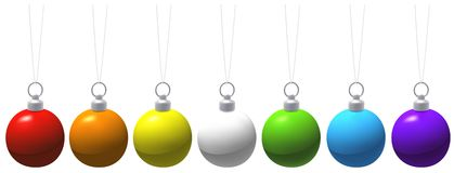 Colored Christmas Balls Royalty Free Stock Image