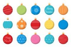 Colored Christmas Balls Stock Photo