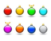 Colored Christmas balls Royalty Free Stock Photos