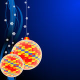Colored christmas balls. Vector. Royalty Free Stock Photography