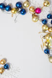 Colored Christmas balls Stock Image