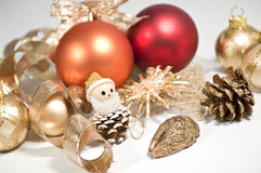 Colored christmas decoration. Christmas decoration in several colors on white Royalty Free Stock Images
