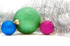 Colored Christmas decorations Royalty Free Stock Photography