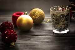 Colored christmas decorations, balls, glass Royalty Free Stock Photo