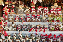 Colored Christmas Decorations: Snowman And Reindeer. Colors Royalty Free Stock Images