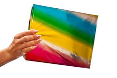 Colored christmas gift Royalty Free Stock Photography