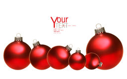 Colored christmas glass balls isolated on white Stock Photo