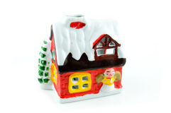 Colored christmas house Stock Photos