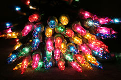 Colored christmas lights. A bunch of Colored christmas lights with copy space Stock Image
