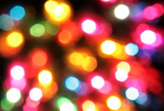 Colored christmas lights Stock Images