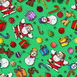 Colored Christmas pattern Royalty Free Stock Photos