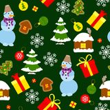 Colored Christmas seamless pattern Royalty Free Stock Photography