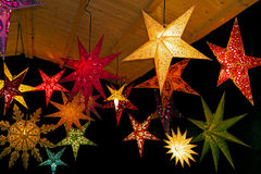 Colored christmas stars Royalty Free Stock Photo