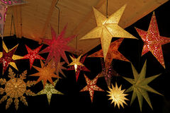 Colored christmas stars Stock Photography