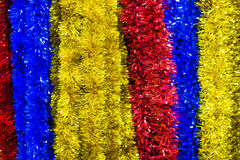 Colored Christmas tinsel Royalty Free Stock Image
