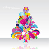 Colored  Christmas tree. Stock Image