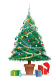 Colored Christmas tree stock illustration