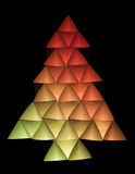 Colored christmas tree 5. Abstract christmas tree in red and yellow on a black background Stock Photo