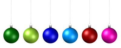 Colored Christmas Tree Decoration Balls. Against white background royalty free illustration