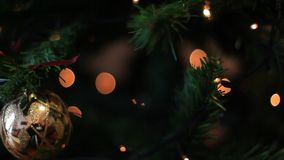 Colored Christmas Tree lights background stock video
