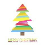 Colored Christmas tree Stock Photos