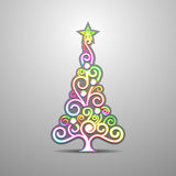 Colored Christmas tree. Vector. Illustration Royalty Free Stock Photography