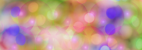 Colored Cicles Panoramic Background Stock Photo