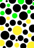 Colored Circle. Many varicoloured circles on a white background royalty free illustration