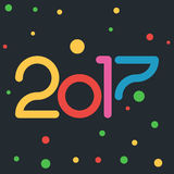 2017 with colored circle Stock Photo
