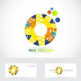 Colored circle logo Stock Photography
