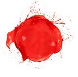Colored circle. Paint splashes circle isolated on white background stock image