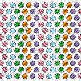 Colored circle pattern background abstract textures on white bac Royalty Free Stock Image