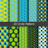 Colored circle pattern Stock Photography