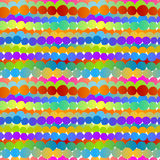 Colored circle rows seamless background Stock Images