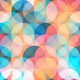Colored Circle Seamless Pattern Royalty Free Stock Photos