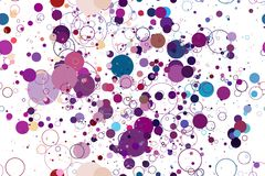 Colored circle seamless pattern. Seamless pattern of colored circles on a white background Stock Photography