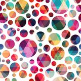 Colored circle seamless pattern. Eps 10 vector file Royalty Free Stock Images