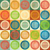 Colored circle seamless pattern with grunge effect Royalty Free Stock Images