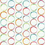 Colored circle seamless pattern with grunge effect Royalty Free Stock Image