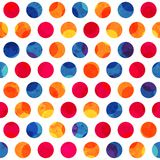 Colored circle seamless pattern with grunge effect Stock Photography