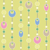 Colored circle seamless pattern retro background Royalty Free Stock Image