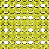 Colored circle seamless pattern with retro colors background Stock Photography