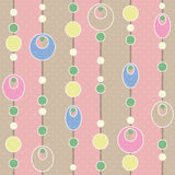 Colored circle seamless pattern with retro colors background Royalty Free Stock Photography