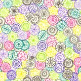 Colored circle seamless pattern. Used Clipping Mask for easy editing Stock Images
