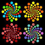 Colored circles. Stock Image